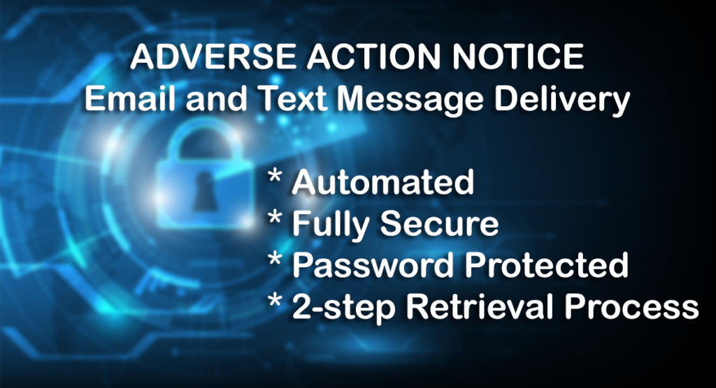 Adverse Action e-delivery